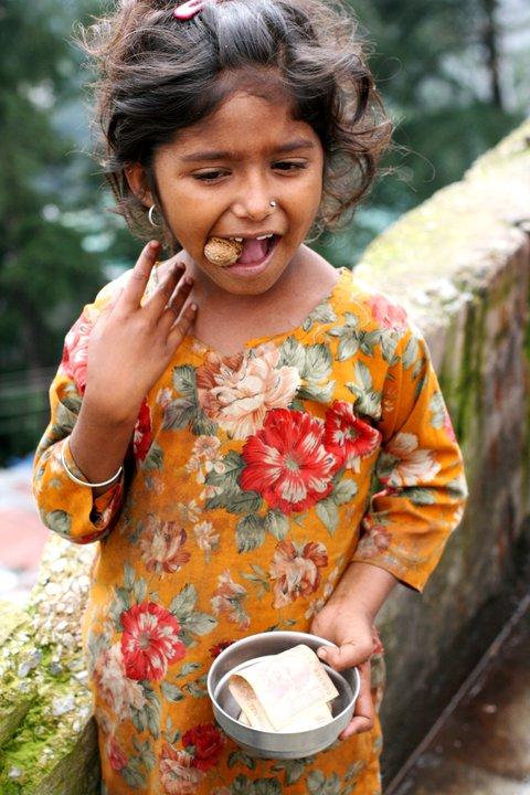 Шимла, Индия, попрошайка